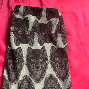 LuLaRoe Wolf Leggings: OS